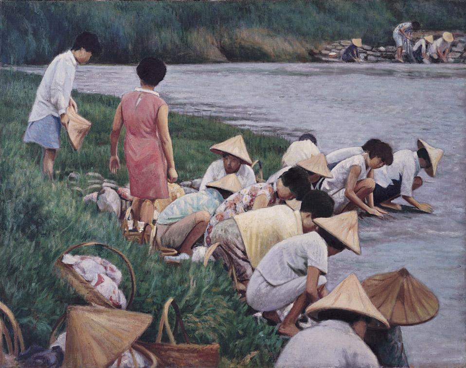 河邊清晨, 李梅樹